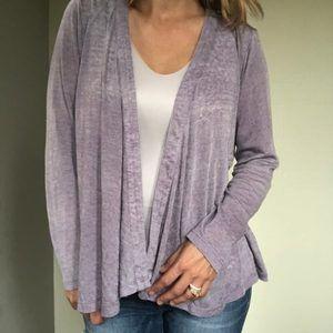 SOFT SURROUNDINGS Cozy Purple Cardigan